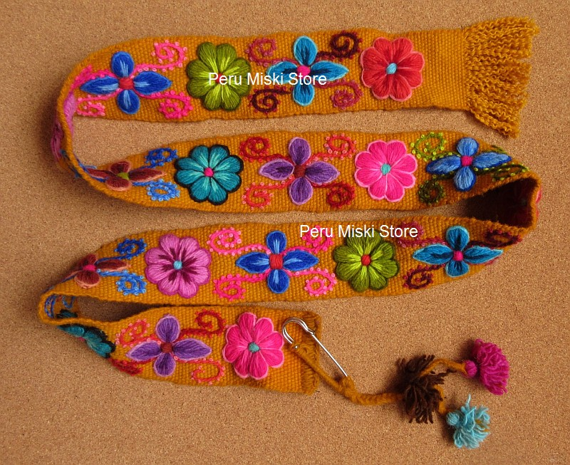 Embroidered Belt from Ayacucho, Peru