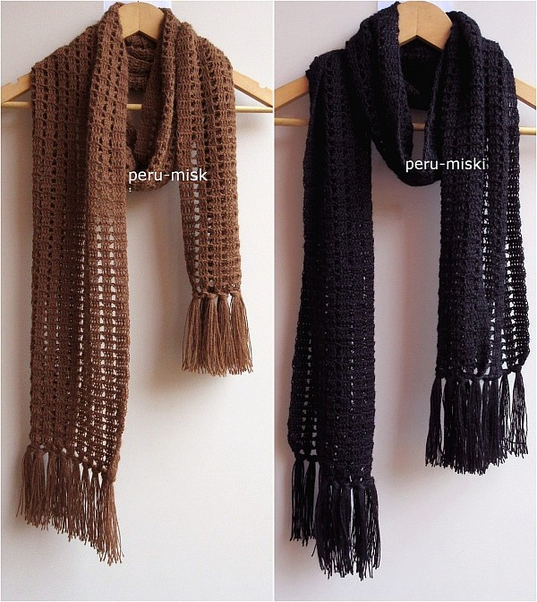 handmade scarf crochet in 100 alpaca 74 quot ebay